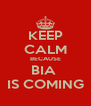 KEEP CALM BECAUSE BIA  IS COMING - Personalised Poster A4 size