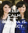 KEEP CALM because BRENDA IS PERFECT. - Personalised Poster A4 size