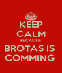 KEEP CALM BECAUSE  BROTAS IS  COMMING  - Personalised Poster A4 size