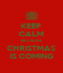 KEEP CALM BECAUSE CHRISTMAS IS COMING - Personalised Poster A4 size