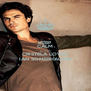 KEEP CALM BECAUSE CRISTELA LOVES IAN SOMERHALDER - Personalised Poster A4 size