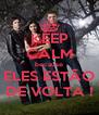 KEEP CALM because ELES ESTÃO DE VOLTA ! - Personalised Poster A4 size