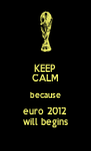 KEEP CALM because euro 2012 will begins - Personalised Poster A4 size