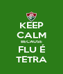 KEEP CALM BECAUSE FLU É TETRA - Personalised Poster A4 size