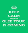KEEP CALM BECAUSE GLEE TOUR  IS COMING - Personalised Poster A4 size