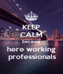 KEEP CALM because here working  professionals - Personalised Poster A4 size