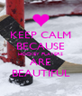KEEP CALM BECAUSE HOCKEY PLAYERS ARE BEAUTIFUL - Personalised Poster A4 size
