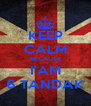KEEP CALM BECAUSE I'AM 6 TANDAK - Personalised Poster A4 size