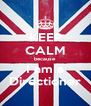 KEEP CALM because I am a Directioner - Personalised Poster A4 size