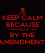KEEP CALM BECAUSE I AM PROTECTED BY THE AMENDMENT1 - Personalised Poster A4 size