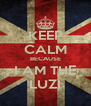 KEEP CALM BECAUSE I AM THE LUZI - Personalised Poster A4 size