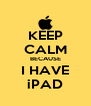 KEEP CALM BECAUSE I HAVE iPAD - Personalised Poster A4 size