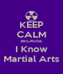 KEEP CALM BECAUSE I Know Martial Arts - Personalised Poster A4 size