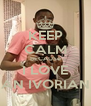 KEEP CALM BECAUSe I LOVE AN IVORIAN - Personalised Poster A4 size
