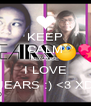KEEP CALM BECAUSE I LOVE JEARS :) <3 XD - Personalised Poster A4 size
