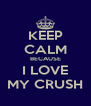 KEEP CALM BECAUSE I LOVE MY CRUSH - Personalised Poster A4 size