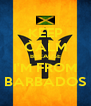 KEEP CALM BECAUSE I'M FROM BARBADOS - Personalised Poster A4 size