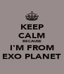 KEEP CALM BECAUSE I'M FROM EXO PLANET - Personalised Poster A4 size