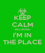 KEEP CALM BECAUSE I'M IN THE PLACE - Personalised Poster A4 size