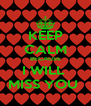 KEEP CALM BECAUSE I WILL  MISS YOU  - Personalised Poster A4 size
