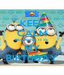 KEEP CALM BECAUSE IT IS  MY BIRTHDAY - Personalised Poster A4 size
