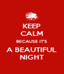 KEEP CALM BECAUSE IT'S A BEAUTIFUL NIGHT - Personalised Poster A4 size