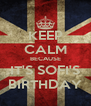 KEEP CALM BECAUSE IT'S SOFI'S BIRTHDAY - Personalised Poster A4 size