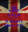 KEEP CALM BECAUSE It wasn't Marc !!!!!! - Personalised Poster A4 size