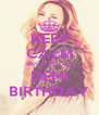 KEEP CALM BECAUSE ITS DEMI BIRTHDAY - Personalised Poster A4 size