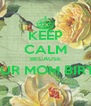 KEEP CALM BECAUSE ITS YOUR MOM BIRTHDAY  - Personalised Poster A4 size