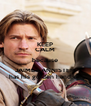 KEEP CALM because JAIME LANNISTER  has his golden hand on - Personalised Poster A4 size