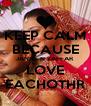 KEEP CALM BECAUSE JANNT N ZAFFAR LOVE EACHOTHR - Personalised Poster A4 size
