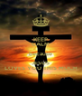 KEEP CALM because JESUS LOVES YOU THIS MUCH - Personalised Poster A4 size