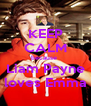 KEEP CALM because  Liam Payne loves Emma - Personalised Poster A4 size