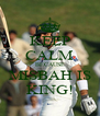 KEEP CALM BECAUSE MISBAH IS KING! - Personalised Poster A4 size