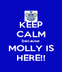 KEEP CALM because MOLLY IS HERE!! - Personalised Poster A4 size