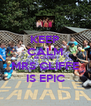 KEEP CALM BECAUSE MRS CLIFFE IS EPIC - Personalised Poster A4 size