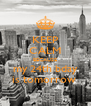 KEEP CALM BECAUSE my 24th bday is tomorrow  - Personalised Poster A4 size