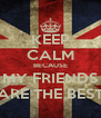 KEEP CALM BECAUSE MY FRIENDS ARE THE BEST - Personalised Poster A4 size
