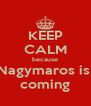 KEEP CALM because Nagymaros is  coming - Personalised Poster A4 size