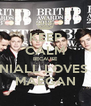 KEEP CALM BECAUSE NIALL LOVES  MAEGAN - Personalised Poster A4 size