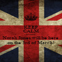 KEEP CALM because Norah Jones will be here on the 3rd of March! - Personalised Poster A4 size