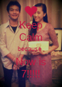 Keep Calm because  Now is 7!!!!! - Personalised Poster A4 size