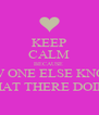 KEEP CALM BECAUSE  NOW ONE ELSE KNOWS WHAT THERE DOING  - Personalised Poster A4 size