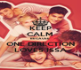KEEP CALM BECAUSE ONE DIRECTION LOVES ISSA - Personalised Poster A4 size