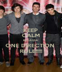 KEEP CALM BECAUSE  ONE DIRECTION  RULE!!!!! - Personalised Poster A4 size