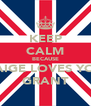 KEEP CALM BECAUSE PAIGE LOVES YOU GRANT - Personalised Poster A4 size