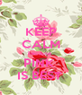 KEEP CALM because  PINK  IS BEST  - Personalised Poster A4 size