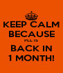 KEEP CALM BECAUSE PLL IS BACK IN 1 MONTH! - Personalised Poster A4 size