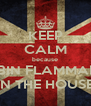 KEEP CALM because ROBIN FLAMMABLE IN THE HOUSE - Personalised Poster A4 size